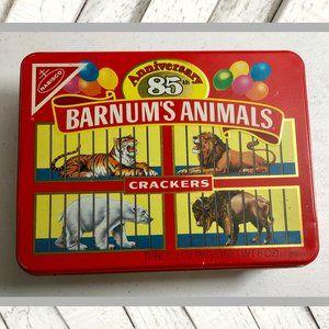 Vntg 1987 Barnum's Animals Crackers Tin